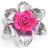 Electroplate with Spray-Painted Acrylic Flower, 52mm, Sold by PC