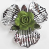 Electroplate with Spray-Painted Acrylic Flower, 58x51mm, Sold by PC