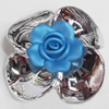 Electroplate with Spray-Painted Acrylic Flower, 47mm, Sold by PC