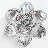 Electroplate Acrylic Flower, 52mm, Sold by PC