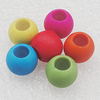 Imitation Wood Acrylic Beads, Mix Color, 10mm Hole:5mm, Sold by Bag