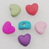Imitation Wood Acrylic Beads, Mix Color, Heart 12x10mm Hole:3.5mm, Sold by Bag