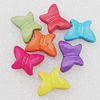 Imitation Wood Acrylic Beads, Mix Color, Butterfly 15x11mm Hole:1.5mm, Sold by Bag