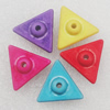Imitation Wood Acrylic Beads, Mix Color, Triangle 12mm Hole:2mm, Sold by Bag