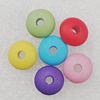 Imitation Wood Acrylic Beads, Mix Color, 8mm Hole:2.5mm, Sold by Bag