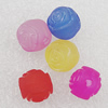 Matte Acrylic Beads, Mix Color, Flower 10mm Hole:2.5mm, Sold by Bag