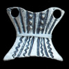 Connectors, Zinc Alloy Jewelry Findings, Lead-free, 21x19mm, Sold by Bag
