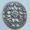 Cabochons, Zinc Alloy Jewelry Findings, Lead-free, 62x73mm, Sold by Bag
