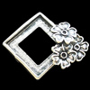 Cabochons, Zinc Alloy Jewelry Findings, Lead-free, 32x26mm, Sold by Bag