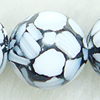 Leaf Shell Beads, Round, 24mm, Sold per 16-Inch Strand