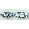 Leaf Shell Beads, Oval, 40x20mm, Sold per 16-Inch Strand
