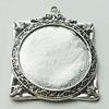 Zinc Alloy Pendant Settings, Lead-free, 43x51mm, Sold by Bag