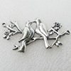 Connectors, Zinc Alloy Jewelry Findings, Lead-free, 49x27mm, Sold by Bag