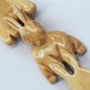 Natural Tibetan Yak Bone Beads, Handmade Animal, 45x28mm, Sold by PC