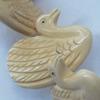 Natural Tibetan Yak Bone Beads, Handmade Animal, 41x33mm, Sold by PC