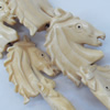 Natural Tibetan Yak Bone Beads, Handmade Animal, 28x34mm, Sold by PC