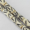 Natural Tibetan Yak Bone Beads, Handmade column, 7x15mm, Sold by PC