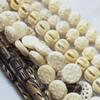 Natural Tibetan Yak Bone Beads, Handmade mix style, 12mm-30mm, Sold by Group