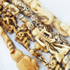 Natural Tibetan Yak Bone Beads, Handmade mix style, 35mm-70mm, Sold by Group