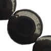 Gemstone beads, black stone, coin, 8mm, Sold per 14-inch Strand