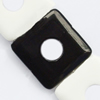 Gemstone beads, black & white stone, square, 30x30x6mm, Sold per 14-inch Strand