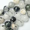 Gemstone beads, black rutilated quartz, round, 10mm, Sold per 15-inch Strand