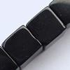 Gemstone beads, black stone, cube, 8x8mm, Sold per 16-inch Strand