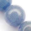 Gemstone beads, blue aventurine, round, 6mm, Sold per 16-inch Strand