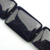 Gemstone beads, blue sand stone, rectangle, 30x20x7mm, Sold per 16-inch Strand