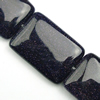 Gemstone beads, blue sand stone, rectangle, 13x18x4mm, Sold per 16-inch Strand