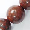 Gemstone beads, breciated jasper, round, 8mm, Sold per 16-inch Strand