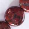 Gemstone beads, breciated jasper, coin, 12x12mm, Sold per 16-inch Strand