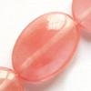 Gemstone beads, cherry quartz, oval, 10x14mm, Sold per 16-inch Strand