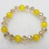 Glass Crystal Bracelet, Length:About 7.8 Inch, Sold by Strand