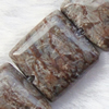Gemstone beads, snow flake(Chinese), square, 10x10mm, Sold per 16-inch Strand