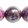Gemstone beads, chtysocolla, round, 6mm, Sold per 16-inch Strand