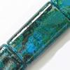 Gemstone beads, chtysocolla, rectangle, 15x25mm, Sold per 16-inch Strand