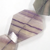 Gemstone beads, fluorite, faceted nugget, 8x12mm, Sold per 16-inch Strand