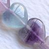 Gemstone beads, fluorite, heart, 14mm, Sold per 16-inch Strand
