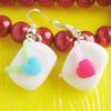 Handmade Fimo Earring, Bead size:10-15mm, Sold by Dozen