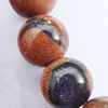 Gemstone beads, gold sand stone & blue sand stone, round, 14mm, Sold per 16-inch Strand