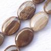 Gemstone beads, grain stone, oval, 22x30mm, Sold per 16-inch Strand