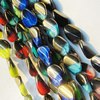 Electroplate Glass Beads, mix colors, 13x18mm, Hole Approx:1mm, Sold per 16-inch Strand