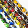 Electroplate Glass Beads, mix colors, 9x13mm, Hole Approx:1mm, Sold per 16-inch Strand