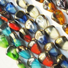 Electroplate Glass Beads, mix colors, 12x15mm, Hole Approx:1mm, Sold per 16-inch Strand