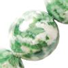 Gemstone beads, green spot jasper, round, 10mm, Sold per 16-inch Strand