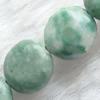 Gemstone beads, green spot jasper, coin, 12x12mm, Sold per 16-inch Strand