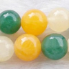 Gemstone beads, he tian jade, round, 10mm, Sold per 16-inch Strand