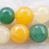 Gemstone beads, he tian jade, round, 8mm, Sold per 16-inch Strand