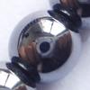 Gemstone beads, hematite, magnetic, round, 8mm, Sold per 16-inch Strand